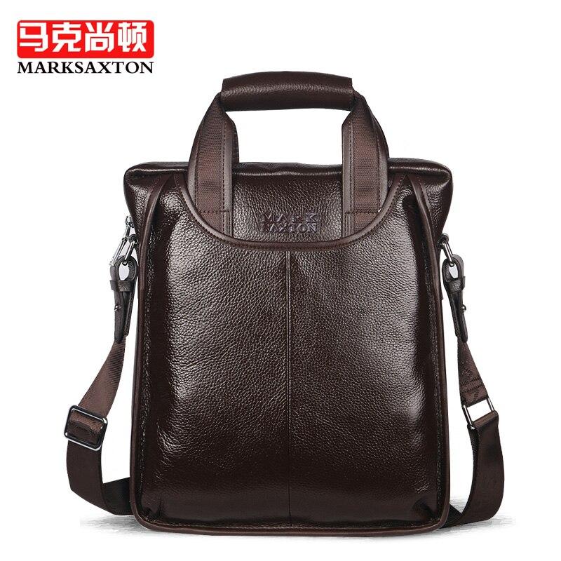 Luxury Italy Brand Design Natural Genuine Leather Men bags Fashion shoulder  messenger bag handbags Vertical Business briefcase ad1031293462d