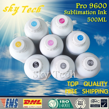 8*500ML Sublimation <font><b>ink</b></font> suit for <font><b>Epson</b></font> <font><b>9600</b></font> etc and Flatbed <font><b>Ink</b></font> Jet Printer ,8 color ,for cloth, leather, metal and etc image