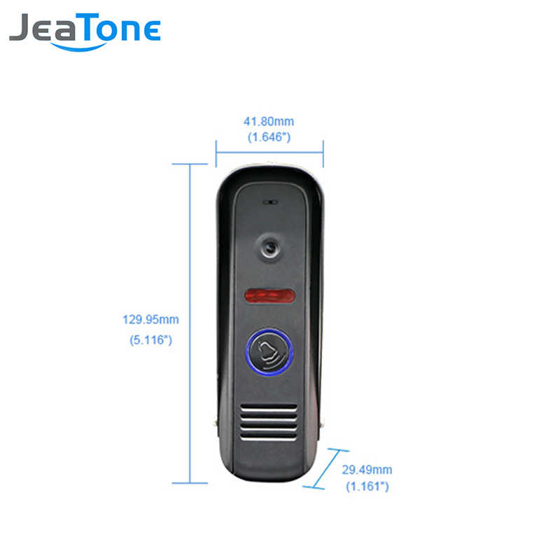 สีประตูวิดีโอ Intercom JeaTone 7 นิ้ว 2 ถึง 2 ประตู Bell ประตูลำโพงแฮนด์ฟรี Touch ปุ่มกันน้ำ Doorbell