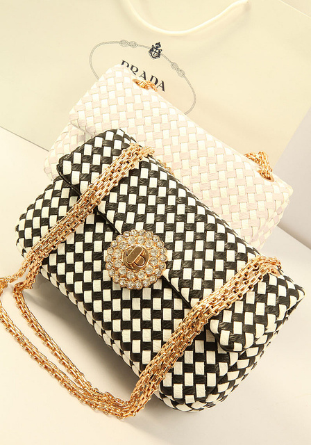 Bags 2013 women's female fashion handbag rhinestone bag chain handbag messenger bag
