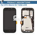 High Quality For HTC Desire SV T326e full LCD Display with Touch Screen Digitizer Assembly + Frame Replacement Free Shipping