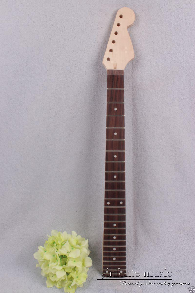 One electric guitar neck maple rose Fretboard 24 fret 25.5'' Truss Rod #803 new electric guitar neck maple 24 fret 25 5 truss rod unfinished no frets nice