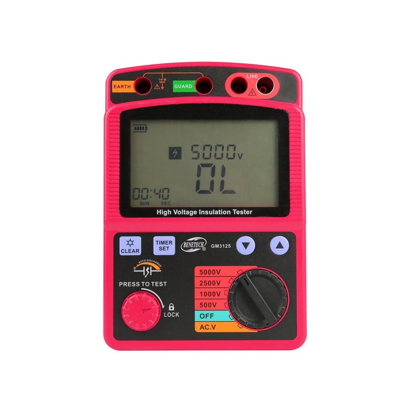 Image 4 - LCD High Voltage Insulation Tester Portable Digital Insulation Resistance Meter 600V DC/AC Voltage Tester Auto Discharge GM3125tester electricitytester peugeottester paper -