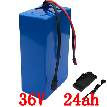 36v 1000w battery 36v 24ah electric bicycle battery 36v 24ah Lithium battery use LG cell with 30A BMS+ 42V 2A Charger duty free image