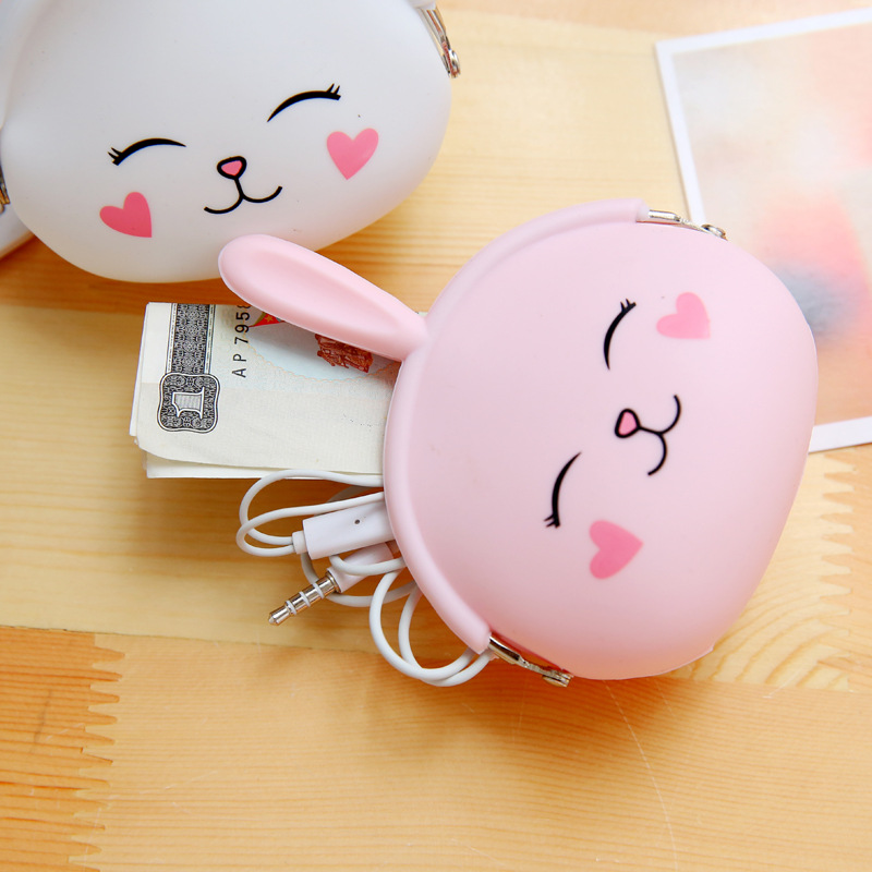 Coin Purse The Small Rabbit Rabbit Lovely New South Korea Coin Bag Key Bag Cartoon Silicone Female Zero Wallets Small Wallet