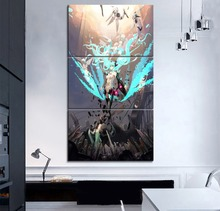 Home Decor Wall Anime Vocaloid Music Girl Painting 3 Piece Modular Style On Canvas Printing Type Framework Or Frameless Poster