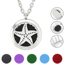 Free with Chain as Gift! New 30mm Magnetic Silver 316L Stainless Steel Essential Oil Diffuser Necklace