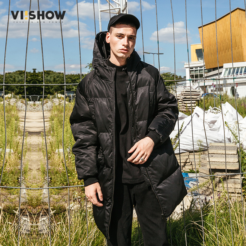 VIISHOW New Long Thicken Mens Winter Parkas 2017 Brand Clothing Warm Coats Male Top Quality Black Men Parka Hombre MC2084174 viishow 2017 new long winter jacket men brand clothing male cotton autumn coat new top quality black down parkas men mc2118174