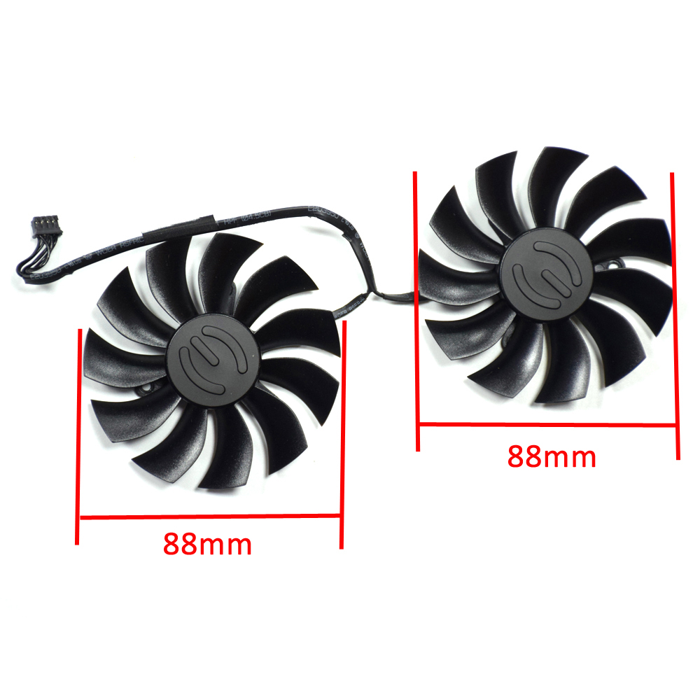 88mm PLA09215B12H 4Pin Ventilador Substituir Para EVGA GTX 960 970 980 Ti GTX960 GTX970 GTX980 GTX980Ti VGA Gráficos Mais Frias ventilador da Placa De vídeo