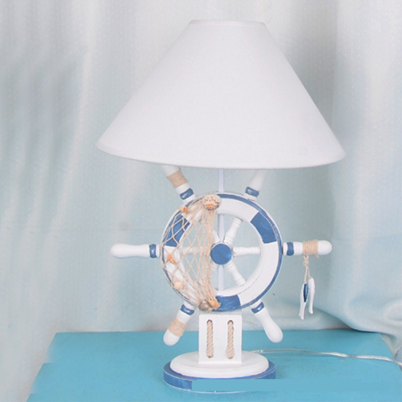 Modern Anime One Piece Rudder Concise Mediterranean Table Lamp Restaurant Bedroom Parlor Study Decoration Free Shipping