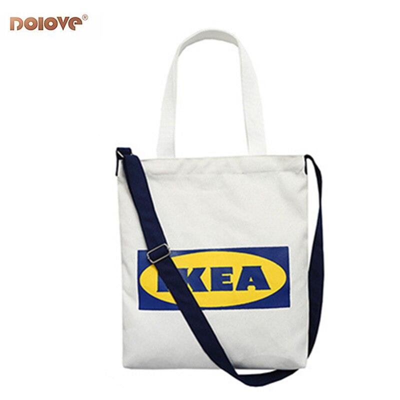 Women's Bags Canvas Messenger Bags Single-Shoulder Letter Tote Bags Large-Capacity Canvas Bags