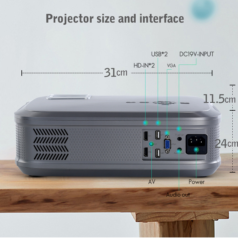 Image 3 - WZATCO CT58 Full HD 1920*1080P Suport AC3 4K Online Video Android 9.0 Wifi Smart  Video LED Projector Proyector For Home Theater-in LCD Projectors from Consumer Electronics