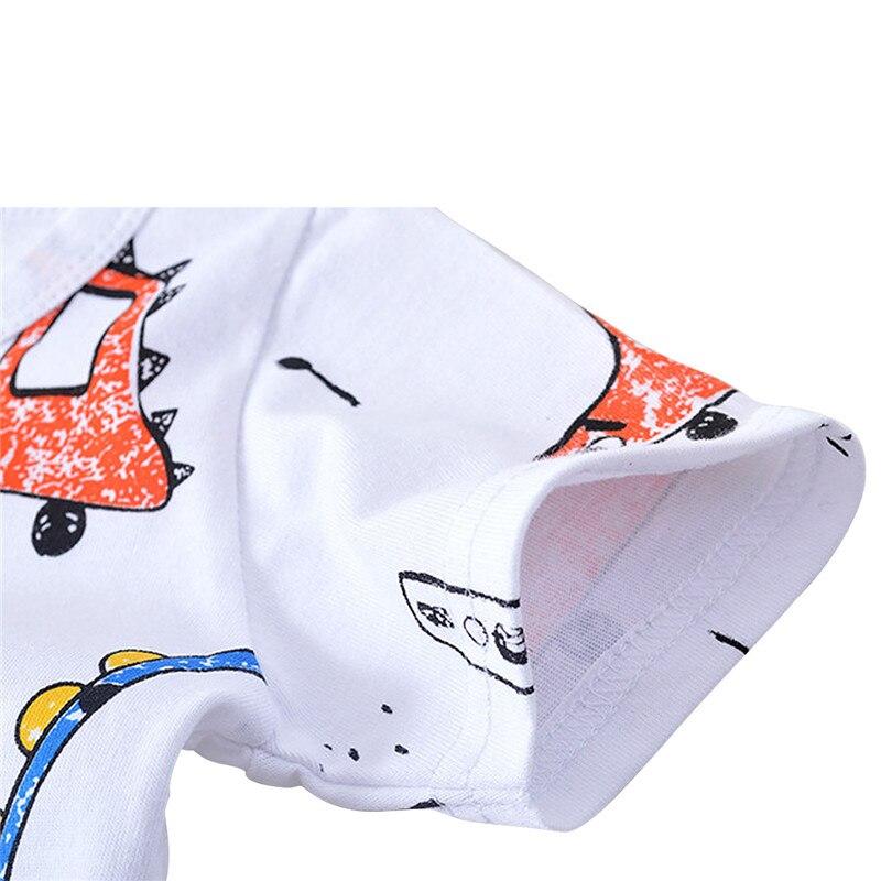 conjuntos de manga casuais meninos curta animados roupas 04