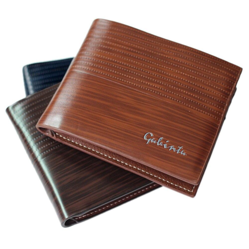Xiniu Men Leather Card Cash Receipt Holder short Organizer Bifold Wallet Purse