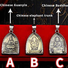 BEIER New Stainless Steel Part Plated-Gold Buddhism Bring Lucky Necklace Pendant China 3 style man women Jewelry BP8-350(China)
