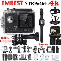Оригинальная экшн-камера EMBEST em61R / em61 с дистанционным управлением, Ultra 4K, WiFi, двойной экран, видеокамера, объектив 170 градусов, go профессиональ...