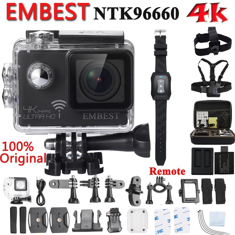 EMBEST Original Câmera Ação Remota EM61R/EM61 Ultra 4 K Wifi Video Camera 170 Graus Lente Cam ir à prova d' água pro câmera