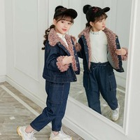 2019 New Fashion Baby Girl For Kids Boys Children Clothes Autumn Winter Toddler Set Blue Soft Casual Long Sleeve Girls Sets