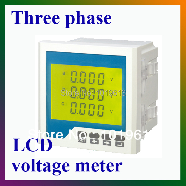 AC three phase voltage digital panel meter analog LCD display three phase ac digital display intelligent current and voltage table zyx96 3ui two in one power meter