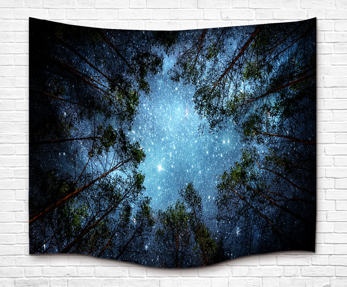 Mandala Tapestry Hippie Wall Hanging Tapestries Home Wall Decor Forest Sky Printing Boho Beach Towel Yoga Mat Bedspread 150x130