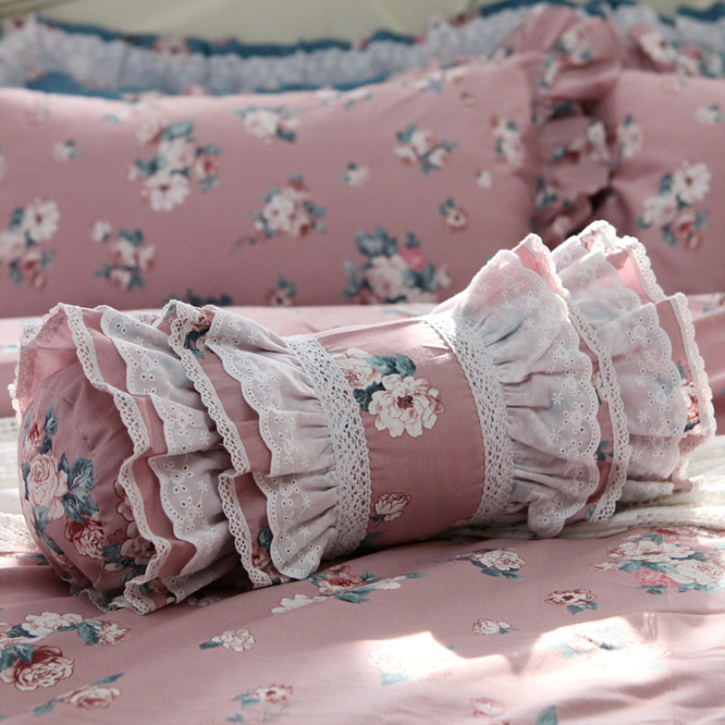 Us 12 6 5 Off Lovely Roll Cushion Decorative Bed Pillow Ruffle Lace Candy Cushion Cake Layer Skirt Lumbar Pillow Sofa Hand Rests Garden Dobby In