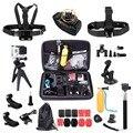 DSDACTION para gopro4 accesorio mini trípode Gopro Accesorios kit para gopro3 360 muñeca pecho head strap para Eken/SJCAM 14A