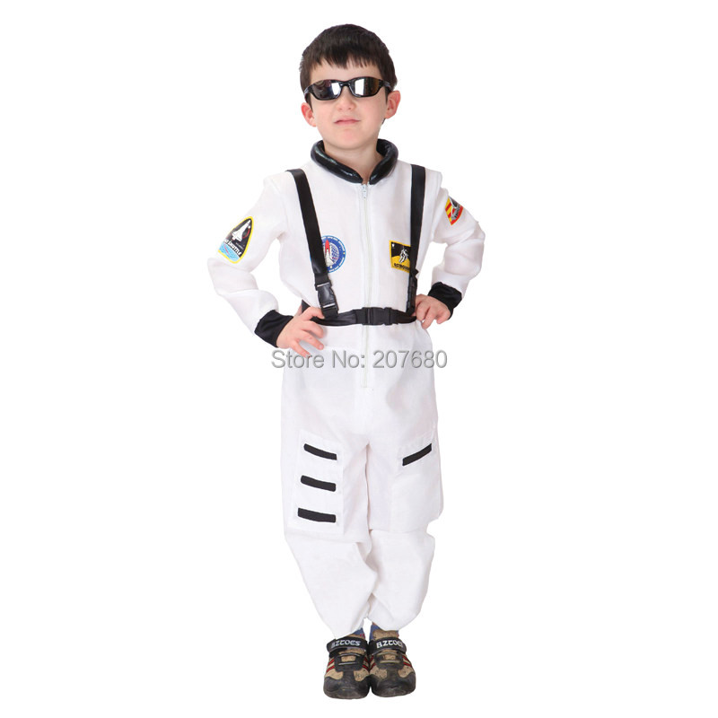 Kids Astronaut Space Suit White Toddler Child Costume