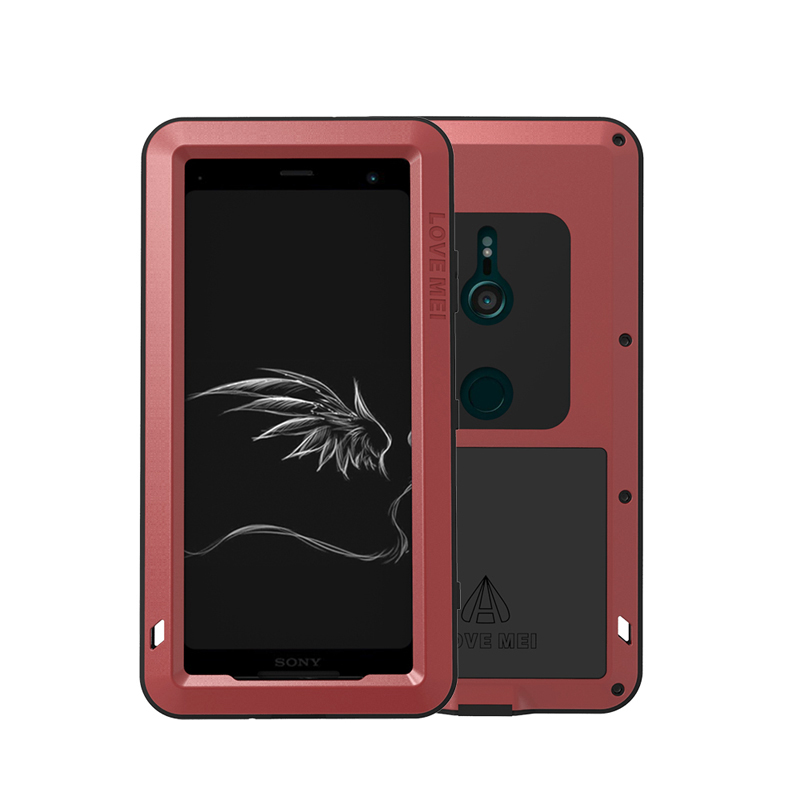 LOVE MEI Metal Aluminum Case For Sony Xperia XZ3 Cover Powerful Armor Shockproof Life Waterproof Case For Sony Xperia XZ3 Coque