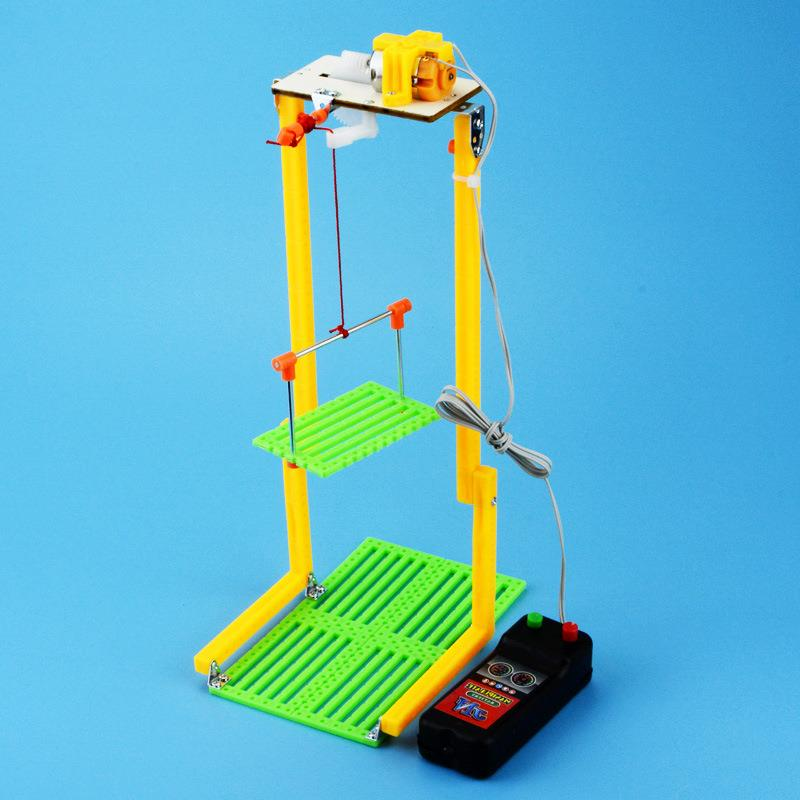 Simple Physics Experiment Small Gizmo Creative Puzzle Assembled Kits Elevator Toy For Kids DIY Handmade Teaching ResourcesSimple Physics Experiment Small Gizmo Creative Puzzle Assembled Kits Elevator Toy For Kids DIY Handmade Teaching Resources