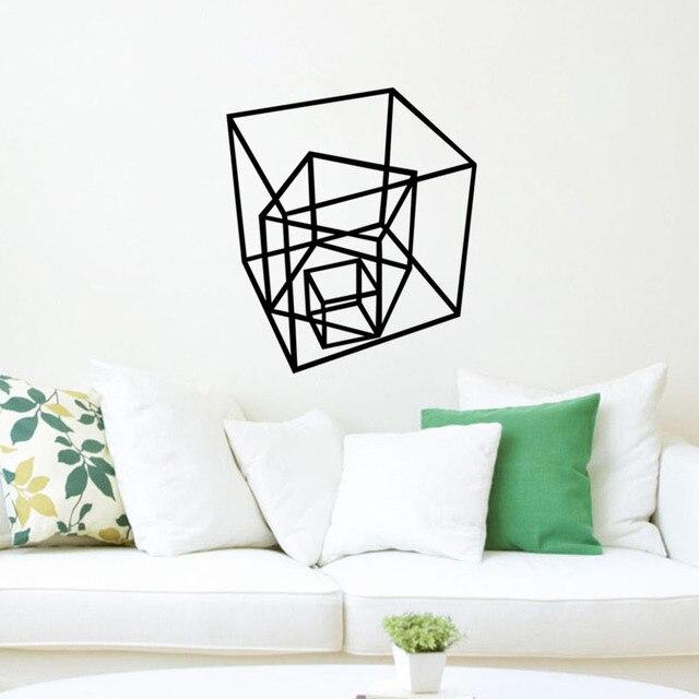Attraktiv Geometrische Formen Vinyl Aufkleber Kreative Wandaufkleber Steuern Dekor  Wohnzimmer Kunst Wandbilder Home Dekoration Zubehör