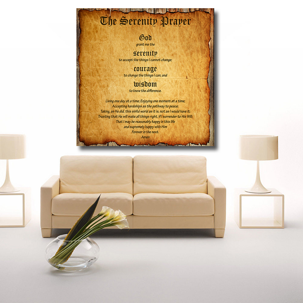 qkart oil painting wall decor pictures serenity prayer marlon brando canvas print wall pictures for living room bedroom in painting u0026 calligraphy from home