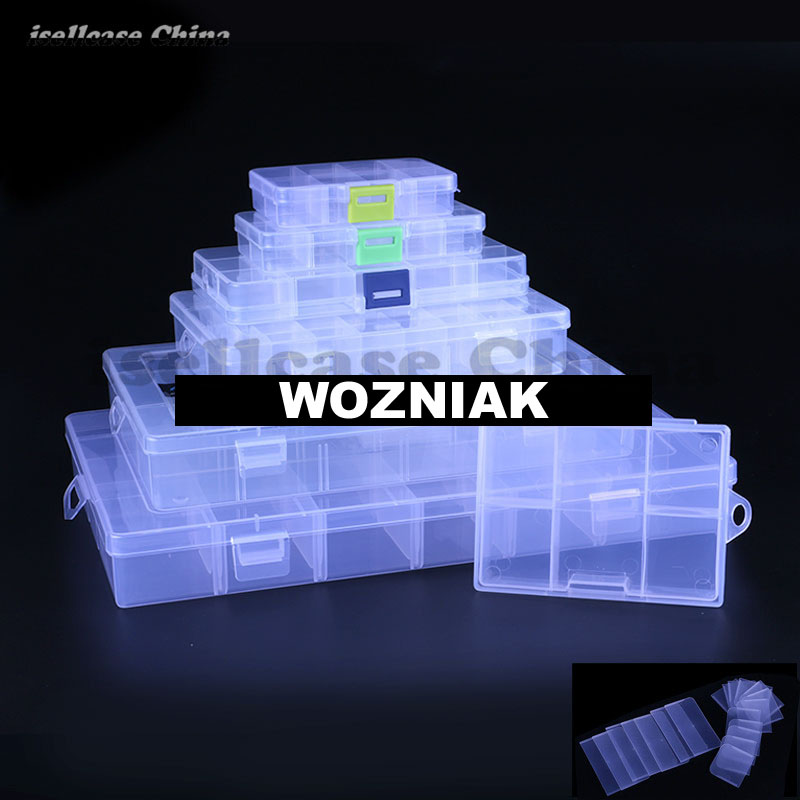 Wozniak DIY Detachable Spare parts element box Small object storage box for iphone ic chip Motherboard Screw Storage box spark storage bag portable carrying case storage box for spark drone accessories can put remote control battery and other parts