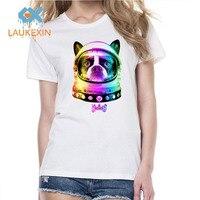 Space Dog Graphic Printed Women's Funny T Shirts Summer Fashion Short Sleeve T Shirt kawaii tee shirt femme camiseta feminina