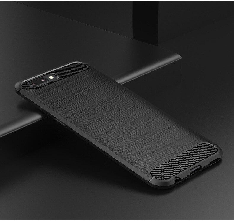 Original New Case für Oneplus 5 Back Cover Case Carbonfaser Soft TPU - Handy-Zubehör und Ersatzteile
