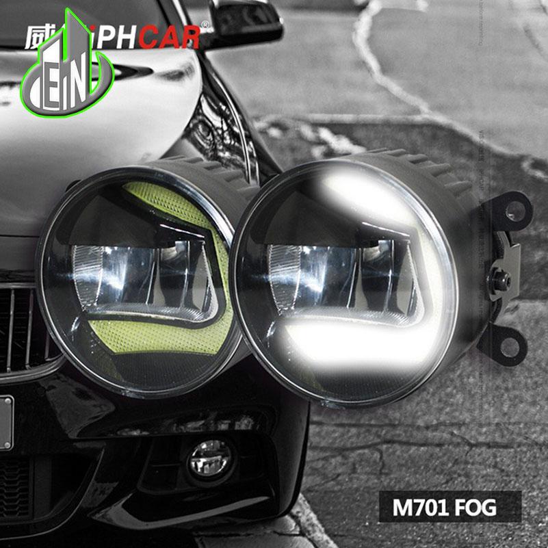 Super White LED Daytime Running Lights case For Renault Clio 2009-2014 Drl Light Bar Parking Car Fog Lights 12V DC Head La