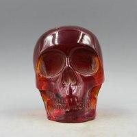 Antique Crafts Antique Amber Ornaments Miscellaneous Home Furnishing High Imitation Succinum Skull