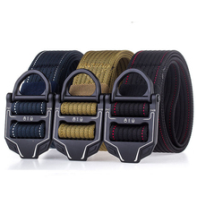8 Color Military Equipment Tactical Belt Man Trousers Long Belt Metal Buckle Thicken Canvas Army Belt Men Black Nylon Waist Belt