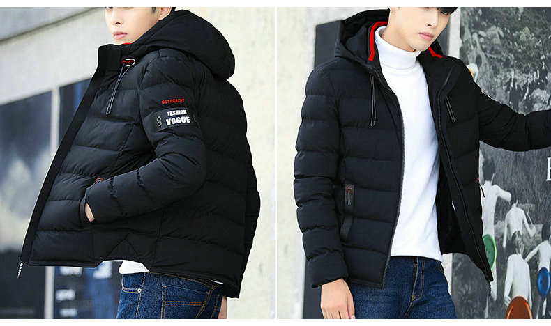 drop shipping New Fashion Men Winter Jacket Coat Hooded Warm Mens Winter Coat Casual Slim Fit Student Male Overcoat ABZ82 5