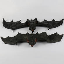 Bat Decoration Funny Halloween Tricky Props Amusing Rubber Simulation Wall Hanging Masquerade Party