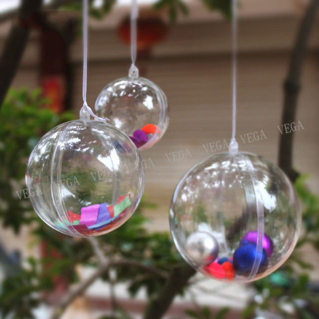Clear Plastic Christmas Balls Ornaments Christmas Balls Can Be Opened Personalized  Christmas Ornaments Decorations For Trees