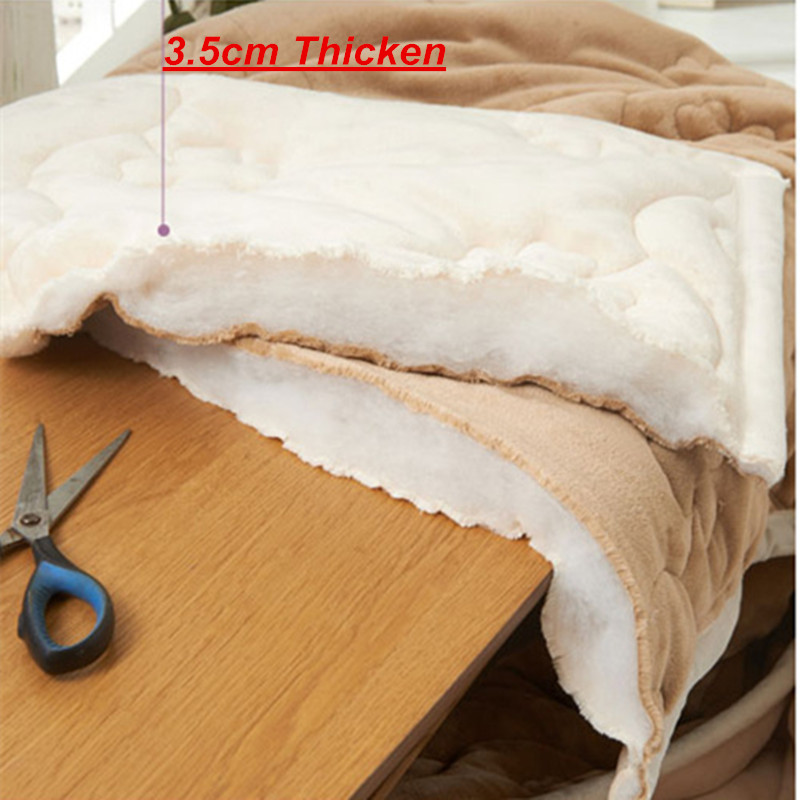 Yovepii утепленные Одеяло Зимние флисовые покрывало 3 слоя фланелевый Утешитель 3.5cm толстые покрывало теплые постельные принадлежности 1 шт. лоскутное одеяло - 5