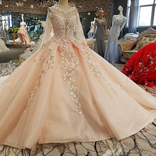 100% Prom Dresses Full Sleeves Ball Gown Evening Dresses
