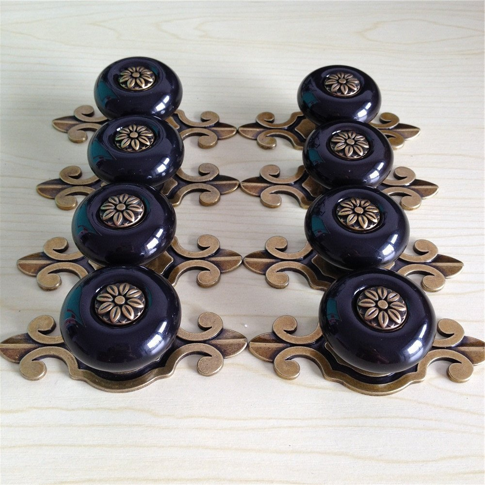 8Pcs Vintage Ceramic Knobs Handles Pulls for Kitchen Furniture Door Drawer Cabinet Dresser Closet Wardrobe Cupboard Vanities wit mb barbell mbevkl 5кг