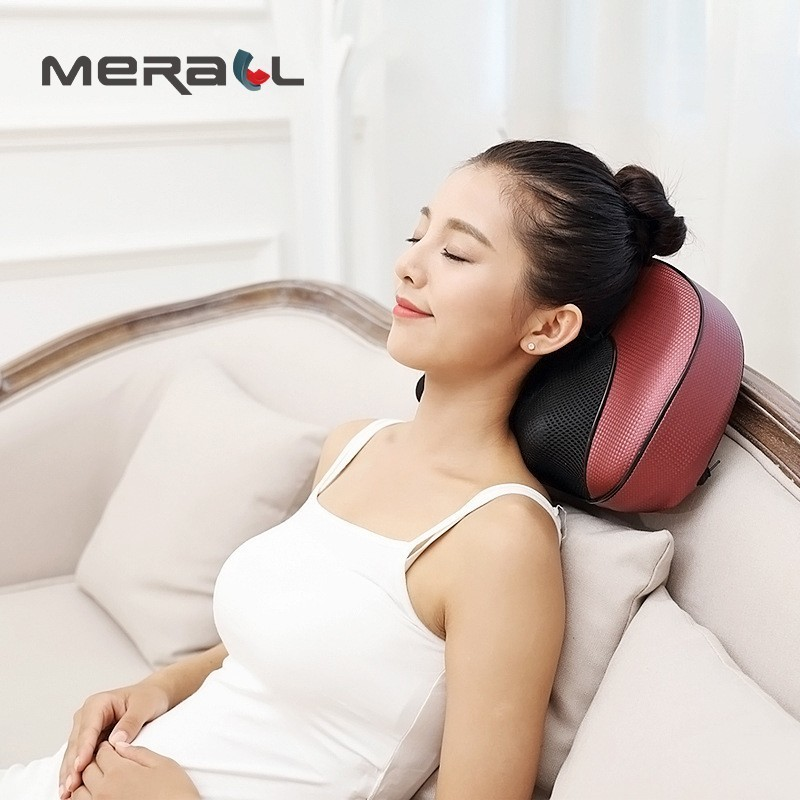 Heating Kneading electric massage pillow neck waist back Body massage Multifunctional home Car Cervical Shiatsu Massager Health angelruila neck massager car home cervical shiatsu massage neck back waist body electric multifunctional massage pillow cushion