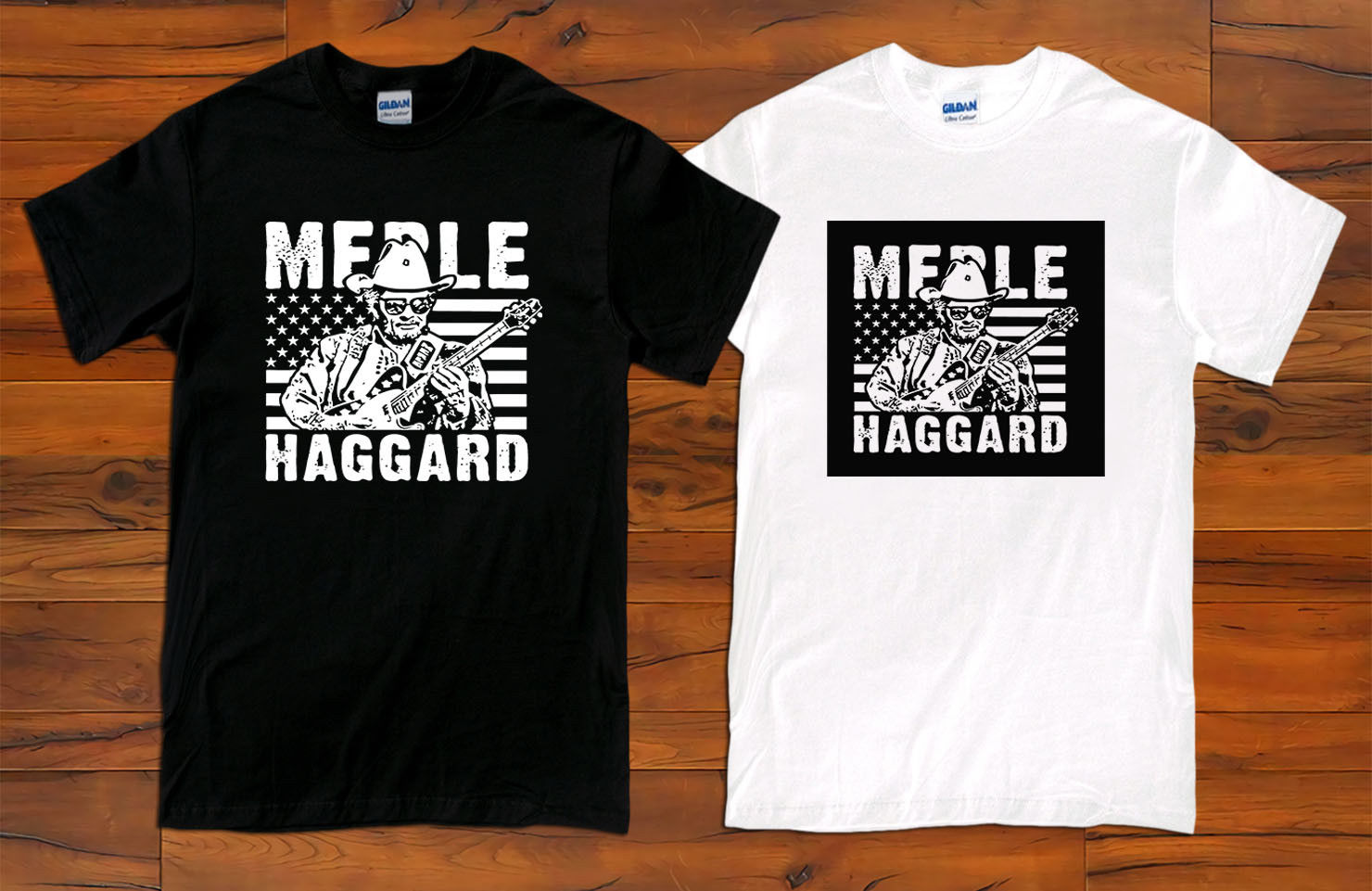 New Merle Haggard Classic Concert Tour Logo Long Sleeve Black T-shirt Size S-3XL