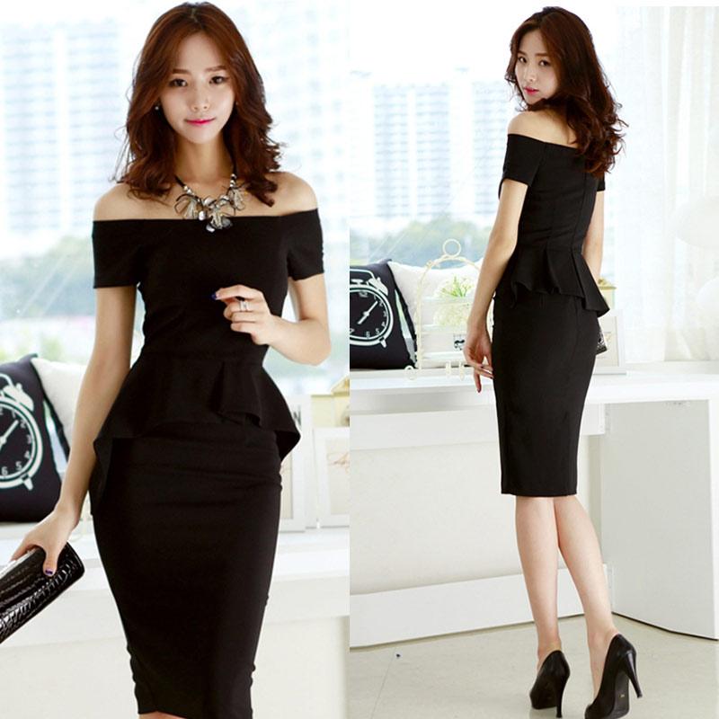 7352017 Summer New Korea Female Workplace Dress Korean -6032