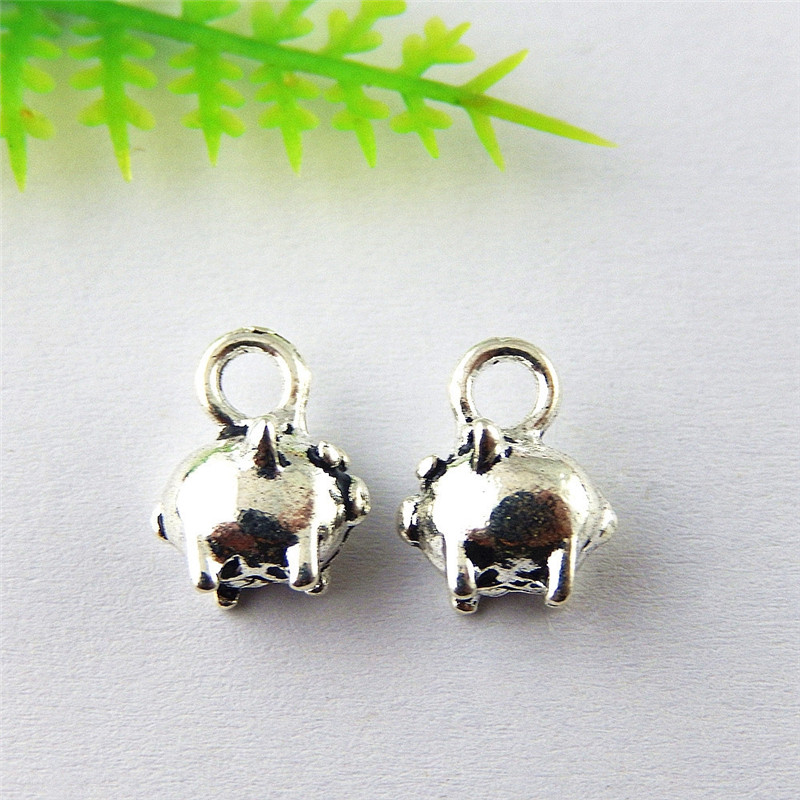 Retro Silver Cute Rabbit Shaped Alloy Jewelry Pendants Charms Findings 20pcs//lot