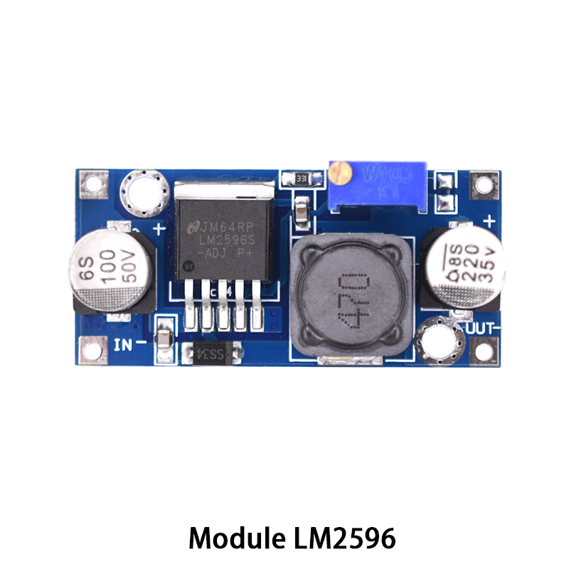 LM2596 module DC-DC Step Down Converter power supply Module LM2596 DC 4.0~40 to 1.3-37V Adjustable Voltage Regulator 100 pcs lm317m to 252 lm317 medium current 1 2 to 37v adjustable voltage regulator