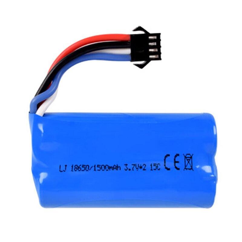7.4v (3.7vx2) 1500mah 15C 18650 Li-ion SM-4P Plug batterie RCHQ961 962 UD1902 1002 jouets batterie livraison gratuite