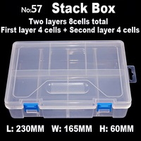 8 Compartments Stack Boxes Jewelry Accessory Storage For DIY Nail Art Beads Crafts Portable Organizer Container